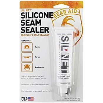 Gear Aid Seam Grip SIL Silicone Sealant for Silnylon Tents and Tarps, Clear, 1.5 oz
