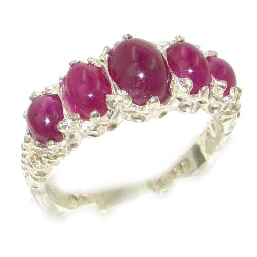 925 Sterling Silver Natural Ruby Womens Promise Ring - Size 6.5 by LetsBuySilver