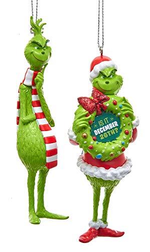 Kurt Adler Grinch Blow Mold Ornament 2/Asstd (Grinch Christmas Decorations Tree)