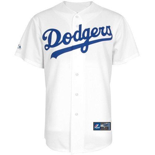 Majestic MLB L.A. Dodgers White Replica Baseball Jersey - Majestic White Replica Dodgers Jersey