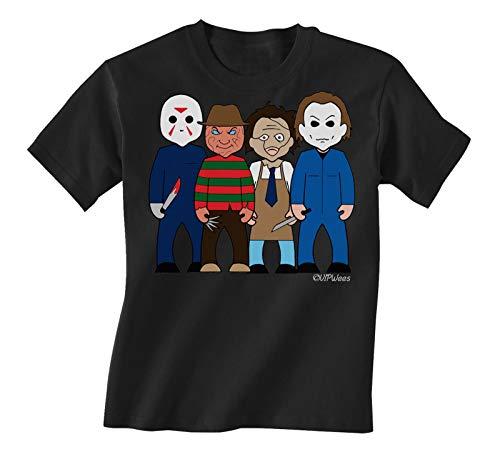 vipwees Kids Unisex Slashers TV and Film Caricature T-Shirt Black ()