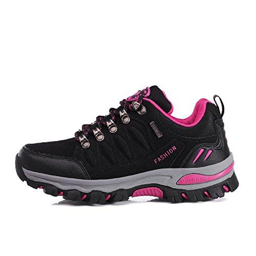 Arrampicata Scarpe LILY999 Nero da Rosa da Basse Donna All'aperto Scarpe Uomo Escursionismo Trekking Sportive Sneakers zzAWrO