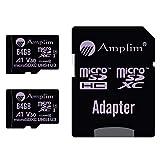 2-Pack 64GB Micro SD Card Plus Adapter. Amplim 2X