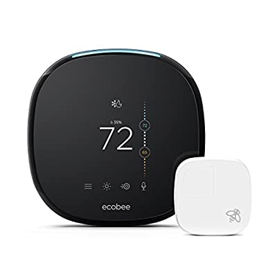 ecobee4 Thermostat with Sensor, Amazon Alexa Built-in