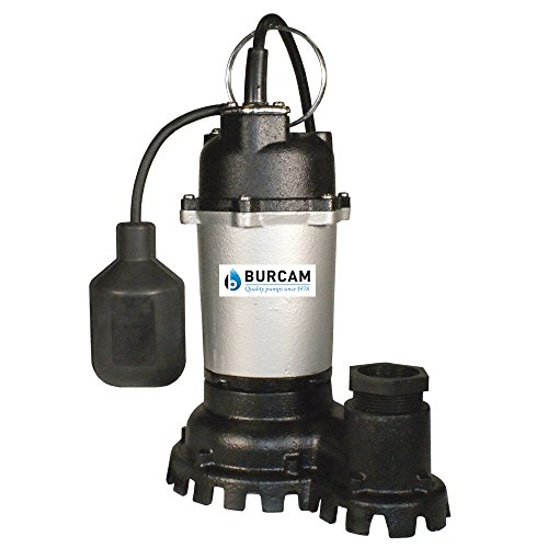 (BURCAM 300728Z 1/2 HP Contractor Series Cast Iron Submersible Sump Pump, Black )