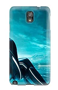 Galaxy Note 3 Case Cover Skin : Premium High Quality Tron Legacy Tripple Monitor Case