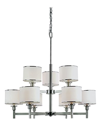 Trans Globe Metal Chandelier - Trans Globe Lighting 1059 BN Indoor  Cadance 33