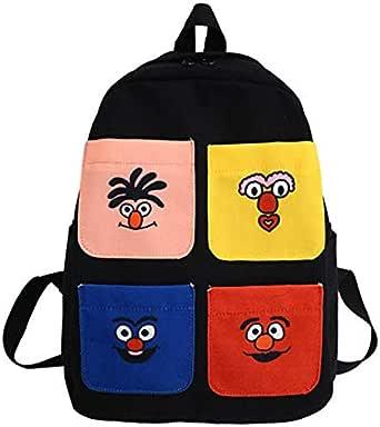 حقيبة ظهر نسائية كاجوال نمط كبير السعة المحببة نمط التباين حقيبة الألوان