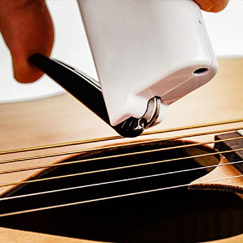 Guitar String Winder Electric Restringing Tool 3-in-1 Multifunctional Strings Cutter Bridge Pin Remover with USB Charge Cable for Banjo Guitar Bass Mandolin Ukelele (White)