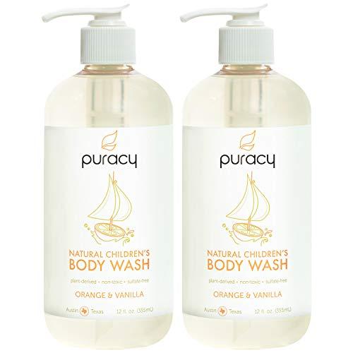 Vanilla Orange Soap - Puracy Natural Children's Body Wash, Orange & Vanilla Tear-Free Kid's Soap, 12-Ounce (2-Pack)