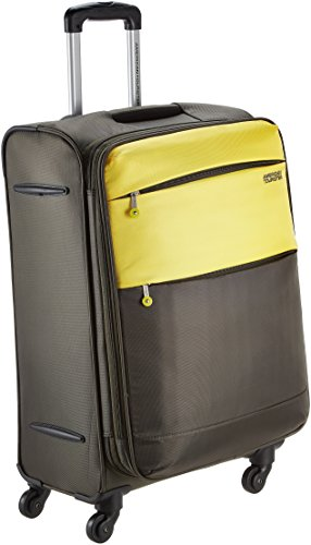 American Tourister Cheer-Lite Polyester 68 centimeters Olive and Yellow Soft Sided Suitcase...