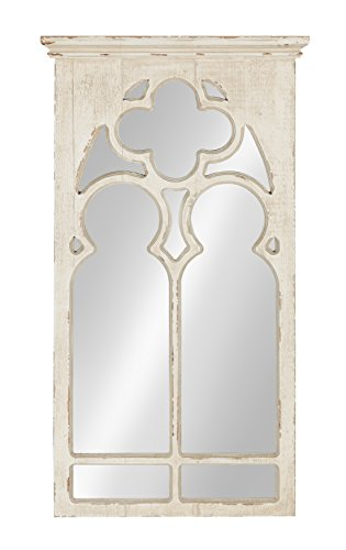 Arch White Finish - Kate and Laurel Mirabela Arch Framed Wall Mirror, White