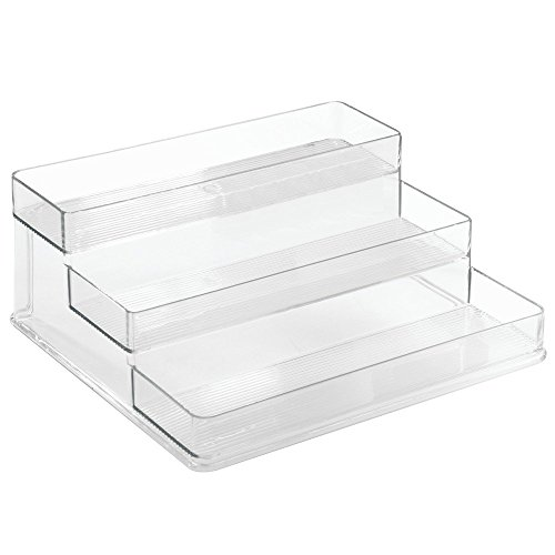 InterDesign Linus Cosmetic Organizer for Vanity Cabinet to Hold Makeup, Beauty Products - 3-Tier, Clear