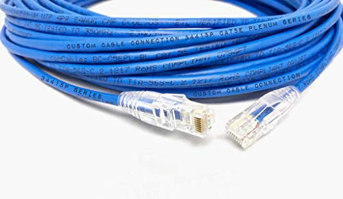 75ft Blue Cat5e Plenum Rated Patch Cable