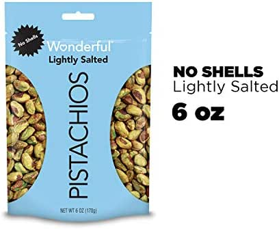 Nuts & Seeds: Wonderful Pistachios No Shells Roasted & Lightly Salted