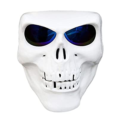 Vhccirt Motorcycle Helmet Mask Spooky Decor Skull Mask Skiing/Motorcross/Paintball/Airsoft Protective Mask Grim Reaper Face Halloween Ghost Cos Mask