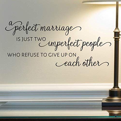 VinylWritten, A Perfect Marriage Wall Decal, Married Quote Wall Décor, 24