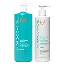 Moroccanoil Moisture Repair Shampoo and Conditioner Liter Duo