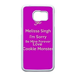 Personalized Durable Cases Samsung Galaxy S6 Edge Cell Phone Case White Rxwxy Keep Clam And Love Cookie Monster Protection Cover
