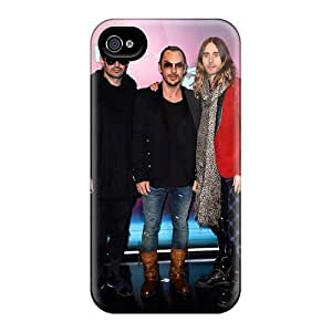 RitaSokul Iphone 4/4s Protective Hard Cell-phone Cases Customized Colorful 30 Seconds To Mars Band 3STM Image [buY3707PKPo]