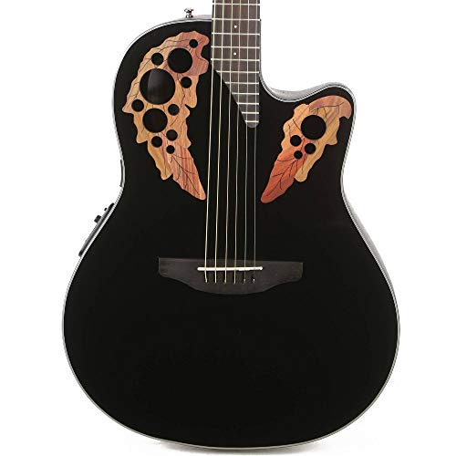 Ovation CE44-5 Acoustic-Electric Guitar, Black