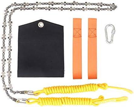 48/'/' Portable High Reach Tree Hand Rope Chain Saw Blades Pocket Chainsaw