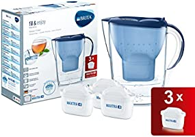 BRITA Marella - Jarra de agua de 2,4 l con tres filtros MAXTRA+, color azul