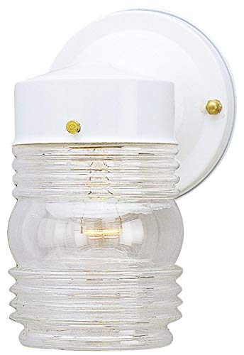 - Westinghouse 6687800 White Jelly Jar Design Light Fixture
