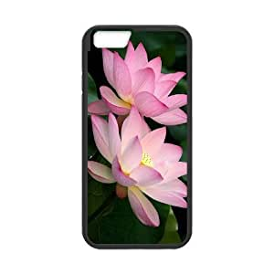 Diy Water Lily Phone Case for iphone 6 Plus (5.5 inch) Black Shell Phone JFLIFE(TM) [Pattern-1] Kimberly Kurzendoerfer