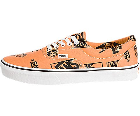 c0968f2ecf Galleon - Vans Unisex Era Canvas Skate Shoes (Tangerine Black