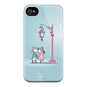 Hot Design Premium PhRAf2150lqTLY Tpu Case Cover Iphone 4/4s Protection Case(kiss Me)