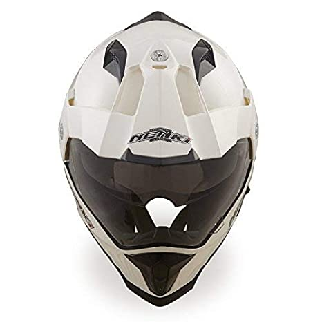 NENKI NK-313 Adventure Dual Sport Enduro Helmets ECE Approved With Sun Visor Large, Black Green Matt