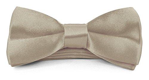 (Boys Kids Childs Bow ties - Adjustable Pre Tied 4x2 Satin Silk Bowties Moda Di Raza - Champagne)