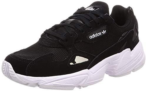adidas Women's Falcon W, CORE Black/CORE Black/Footwear White, 6 ()