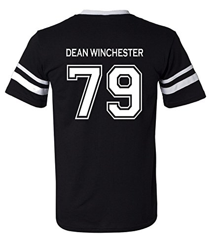 Adult Supernatural Dean Winchester 79 2-Sided Jersey (X-Large, Black)