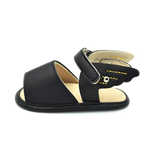 Baby Wing Slip Fheaven Infant Summer Anti Soft Shoes Sandals Toddler Soled Beach Black Weave PwUw50