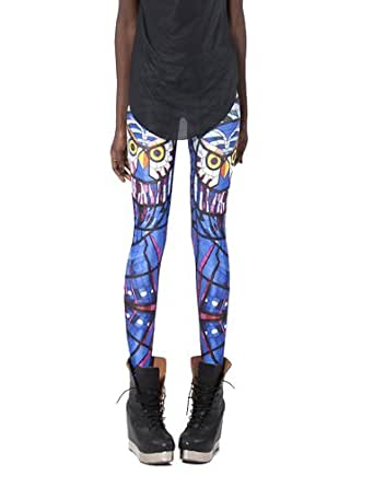 iecool Women's Sexy Midnight Owl Leggings Tights One Size