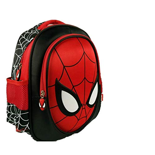ManalCorp Spiderman Kids Backpack with SPIDERMAN WEB SHOOTER TOYS INCLUDED AS A FREE GIFT!!!,(B)