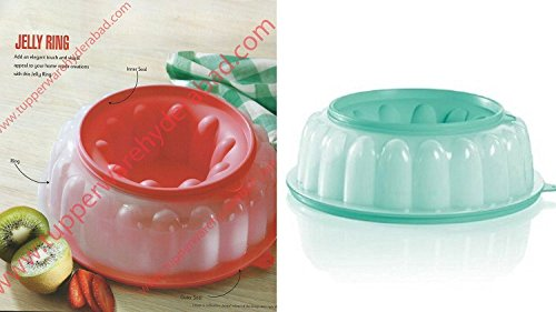 Tupperware Jel-Ring, Jello Mold, Ice Ring in Mint/Red by Tupperware
