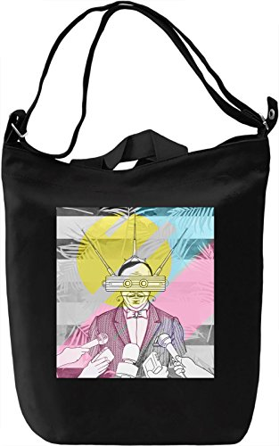 TV Men Borsa Giornaliera Canvas Canvas Day Bag| 100% Premium Cotton Canvas| DTG Printing|