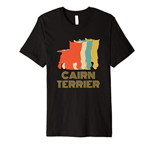 Cairn Terrier Dog Breed Lovers Vintage Look Silhouette Premium ()