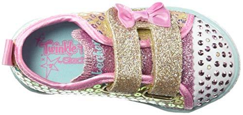 Skechers Kids Girls' Shuffle Lite-Mini Mermaid Sneaker, Gold, 10.5 Medium US Little Kid by Skechers (Image #7)