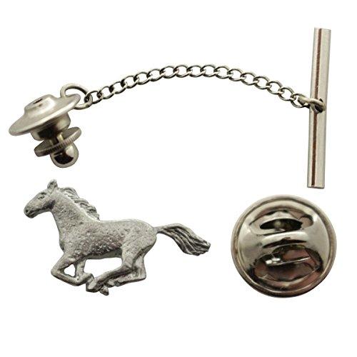 Horse Tie Tack (Horse Tie Tack ~ Antiqued Pewter ~ Tie Tack or Pin ~ Sarah's Treats & Treasures)