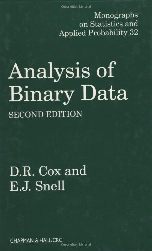 Analysis of Binary Data, Second Edition (Chapman & Hall/CRC Monographs on Statistics & Applied Probability)