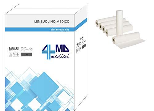 ALMAMEDICAL Medisch hoeslaken, pure cellulose, 2-laags, 60 x 80 m, 6 rollen