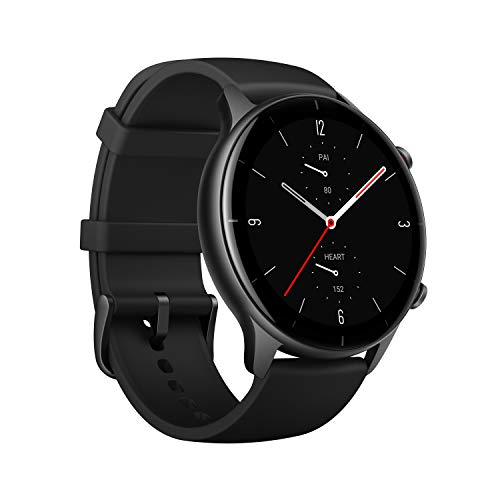 Amazfit GTR 2e Smart Watch, 2.5D Curved Bezel-Less Design, 1.39〞Always-on Amoled Display, SpO2 & Stress Monitor, Built-in GPS, 24-Day Battery Life, 90+ Sports Models, 50+ Watch Faces (Obsidian Black)
