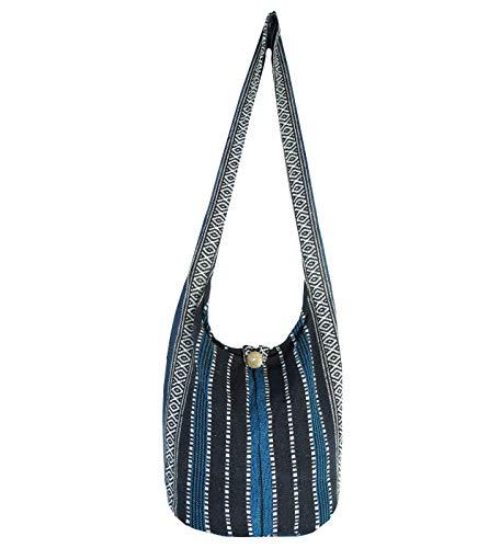 Aztec Yoga Bag Shoulder Crossbody Sling Medium (Midnight Blue)