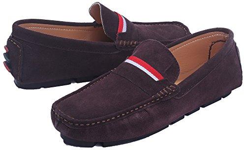 Shoes Suede Uomo AgeeMi Scarpe Tacco Puro Lucido Marrone Uomo Scuro da Tessuto Basso gdfxf0
