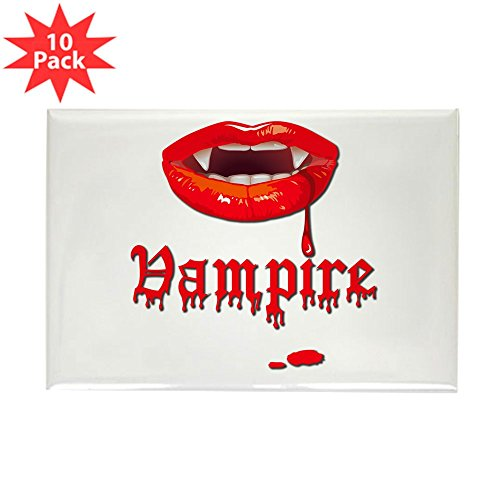 Rectangle Magnet (10 Pack) Vampire Fangs (Vampire Rectangle Magnet)