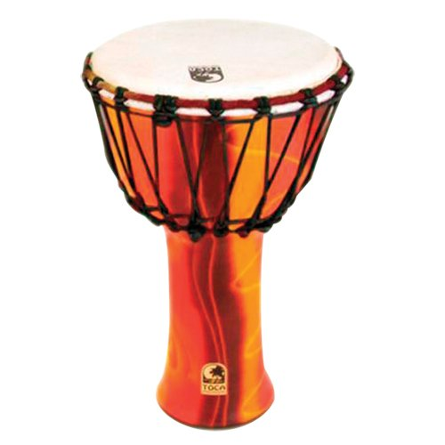 Toca SFDJ-9F Freestyle Rope Tuned 9-Inch Djembe - Fiesta Finish by Toca